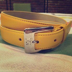 Escada Yellow EE Leather Belt